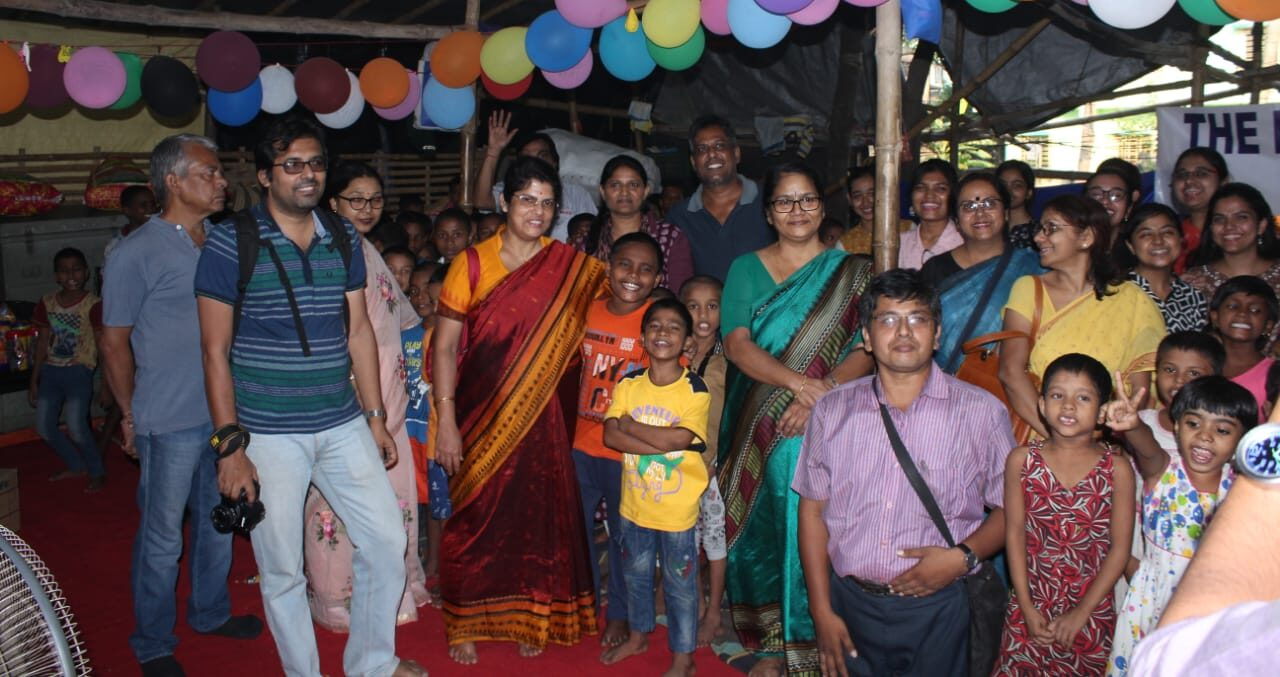 Social work done by Department of Physics and Statistics department in 'Aashiana Happy Home ' (home for the homeless) (1)